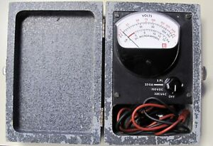 Vintage Honeywell Meter With Wood Case Ac Dc Volts Microamperes