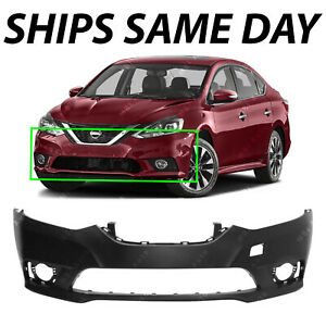 New Primered Front Bumper Cover Replacement For 2016 2019 Nissan Sentra 16 19