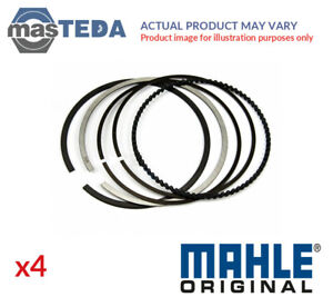 4x Engine Piston Ring Set Mahle Original 607 77 N0 I New Oe Replacement