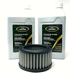 Rolair K30 Air Compressor Maintenance Kit With Synthetic Oil Air Filters