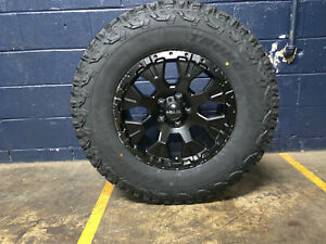 Helo He878 17x9 Black Wheels Rims 33 At Tires Package 8x170 Ford Super Duty