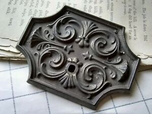 Ornate Vintage Brass Escutcheon Key Backplate Parts Architectural Salvage