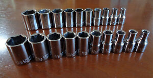 Usa Made Craftsman Industrial 1 4 Drive Metric Sae Inch Socket Set 20pc