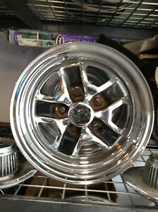 Oldsmobile 442 Rally Wheel Crome 14x6 1 Wheel Takes A Snap On Center Cap