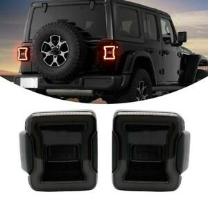 2x Led Tail Lights 2018 2019 For Jeep Wrangler Jl Brake Reverse Rear Back Up