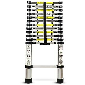 Collapsible Portable Telescoping Extension Ladder Heavy Duty Aluminum 3 12 5ft