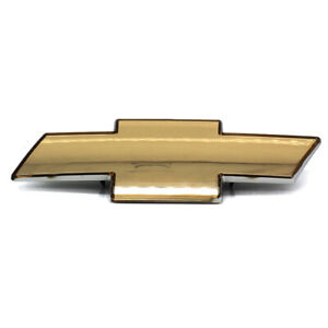 Fits To Chevrolet Silverado Grille Emblem Front Grill Gold Badge