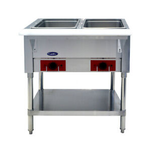 New Cstea 2 Electric Hot Food Steam Table 2 Well