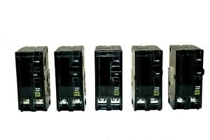 lot Of 5 Square D Qo2100 Plug on Circuit Breaker 100a 2 pole 120 240v no Box