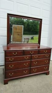 Henkel Harris Mahogany Dresser Chest Mirror 29