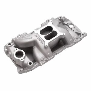 Edelbrock 7562 Rpm Air gap Bb Chevy 2 r Intake W free Intake Gaskets