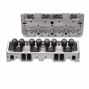 Edelbrock 5085 Sb Chevy Cyl Heads E 210 For Flat Tappet Cam W Free Head Gaskets