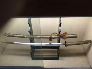 Collectable High Quality Japanesesamurai Old Dragon Sword Katana Brass Sayasharp