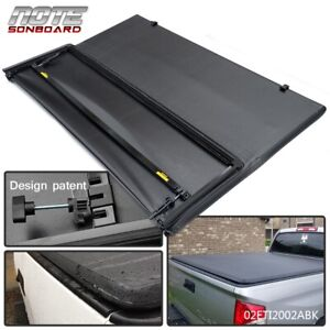 For 2016 2018 Toyota Tacoma Lock Tri Fold Tonneau Cover 5ft Short Bed Black