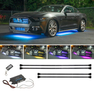Ledglow 4pc Million Color Led Underbody Underglow Neon Lighting Kit For Cars
