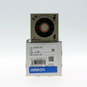 1pc New In Box Omron H3cr f8 Timer H3crf8 100 240vac Free Shipping