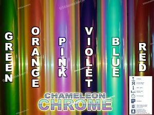 1 Yard Roll Chameleon Chrome Htv Heat Transfer Vinyl 20 x3feet