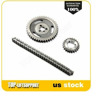 For Gm Sbc V8 Chevy 305 327 350 383 5 7l Hd Double Roller Timing Chain Set