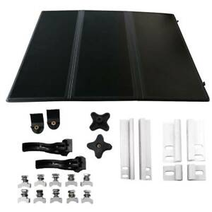 For Nissan Frontier 05 19 Rear 5ft Bed Frp Hard Solid Tri fold Tonneau Cover