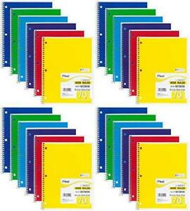 mead Spiral Notebook Wide Ruled 1 Subject 70 Sheets 8 X 10 5 Inches