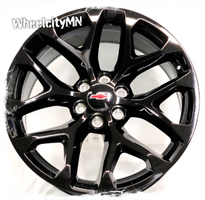 24 Inch Gloss Black 2018 Snowflake Chevy Silverado Ltz Oe Replica Wheels 6x5 5