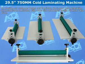 Intbuying 29 5 Manual Cold Roll Laminator Mount Laminating Machine 750mm