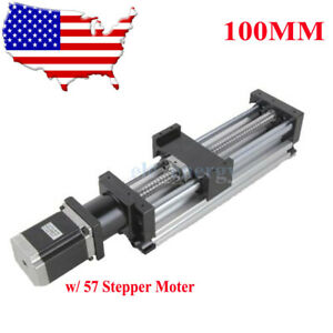 100mm Ball Screw Linear Cnc Slide Stroke 100mm Long Stage Actuator Stepper Motor