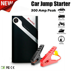 Portable 6000mah Car Jump Starter Booster Charger Power Bank Emergency Battery