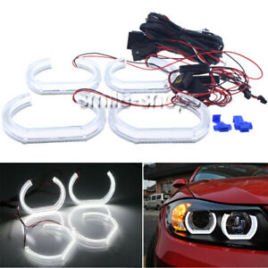 4x Crystal U ring Style White Led Angel Eye Halo Rings For Bmw 7 Series F01 F02