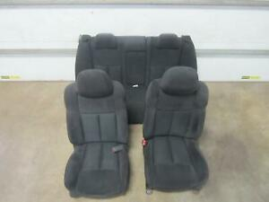 09 14 Nissan Maxima Front Seat Cloth Electric Front Rear Dark Grey