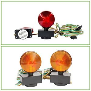 Magnetic Tow Lights Towing Equipment Scratch Resistant Lens Brake Turnsignal 12v