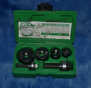 Greenlee Slug Buster Knockout Punch Set 7235bb In Case
