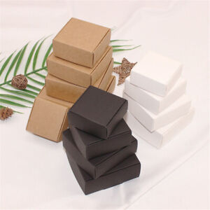 Kraft Paper Boxes Craft Candy Jewelry Handmade Soap Packaging Box Gift
