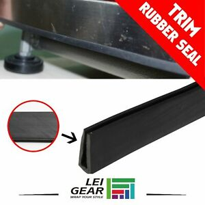 Black Rubber Seal Flexible Plastic Strip Trim Weatherstrip Car Door Edge 240