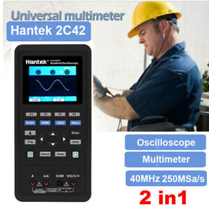 Hantek 2c42 2in1 Handheld Oscilloscope multimeter 40mhz Bandwidth Waveform Dmm
