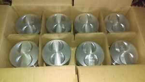 Enginetech P1501 Ford Mercury 289 302 Flat Top Pistons With Premium Moly Ring