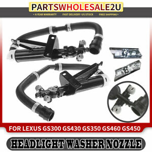 2x Front Headlight Washer Nozzle Assembly For Lexus Gs300 Gs350 Gs430 2006 2011