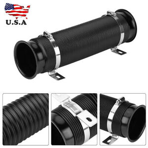Universal 76mm 3 Car Cold Air Intake Inlet Pipe Flexible Duct Tube Hose Kit
