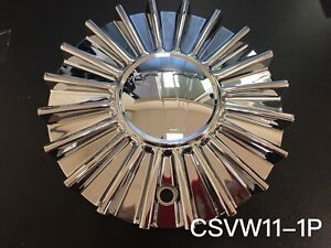 Velocity Vw11 Wheel Center Chrome Cap part csvw11 1p