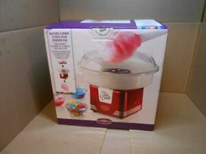 Nostalgia Retro Electric Commercial Cotton Hard Candy Maker Red Machine