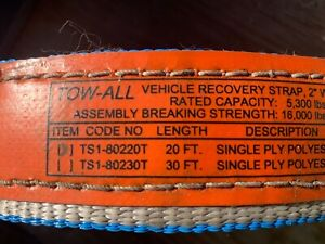 Tow All 2 X 20 Vehicle Recovery Strap