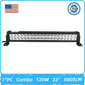 120w 22inch Led Work Light Bar Combo Lamp Offroad Driving Fog Suv 4wd Atv Truck