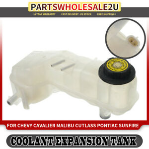 Pressurized Coolant Reservoir For Chevy Malibu Cavalier Pontiac 95 98 W Sensor