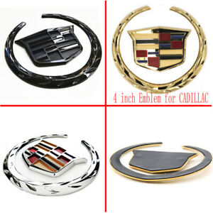 4 In For Cadillac Wreath Crest Rear Tailgate Truck 3d Logo Emblem Badge Sticker