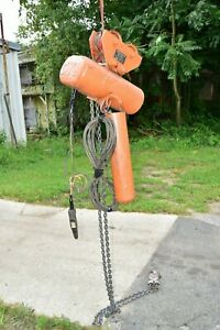Cm Lodestar Model R 2 Ton Electric Chain Hoist 8fpm 3 Phase 1hp With Trolley