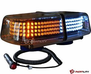 240 Led White Amber Light Emergency Warning Strobe Flash Yellow Magnetic Roof