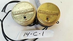 Lot Of 2 Synchron 610 Timing Clock Motor 110v 60cy 3w 4rpm