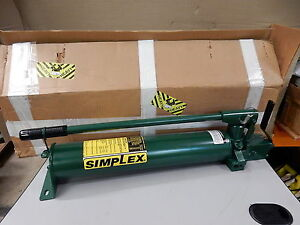 Simplex P140df Hydraulic Pump For Double Acting Cylinders New Equiv Enerpac P 84