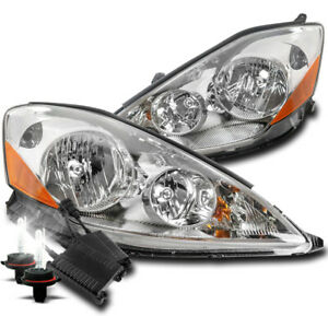 For 2006 2010 Toyota Sienna Chrome Replacement Headlights Lamps W 50w 6k Hid Kit