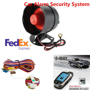 2way Car Alarm Security System With 2pcs Lcd Long Distance Controlers Anti theft